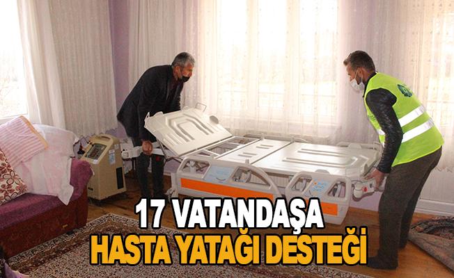17 vatandaşa hasta yatağı desteği