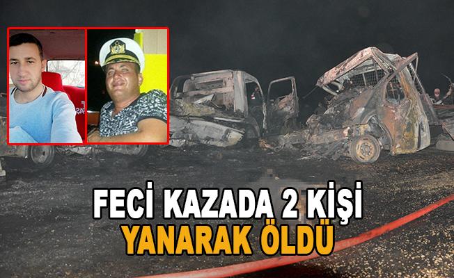 Antalya'da 2 kişi araç içinde yanarak öldü