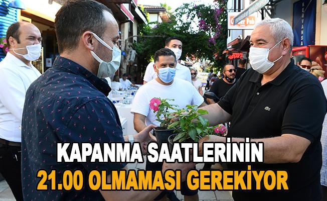 """ATSO Başkanı Çetin: """"Kapanış saatleri mutlaka 24.00'a kadar uzamalı"""""""