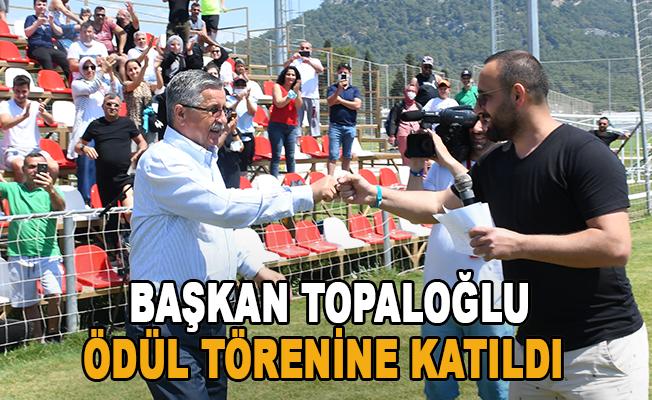 Başkan Topaloğlu, Daima Kemer Cup Futbol Turnuvası ödül törenine katıldı