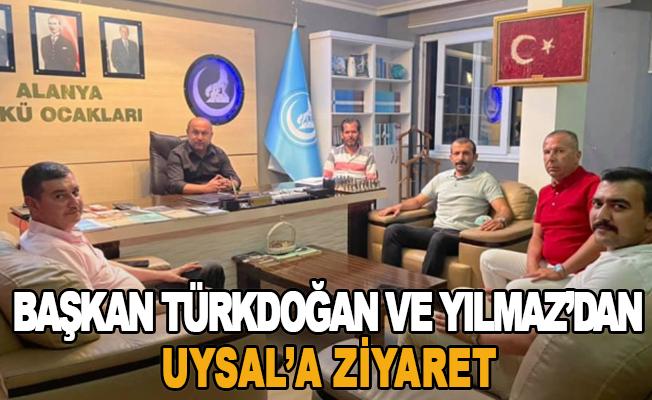 Başkan Türkdoğan ve Yılmaz'dan Uysal'a ziyaret