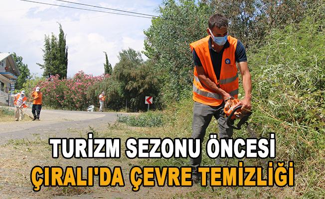 Turizm sezonu öncesi Çıralı'da çevre temizliği