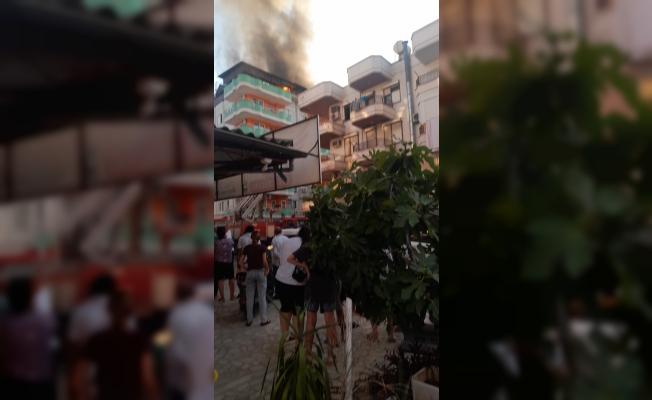 Alanya'da otel yangını