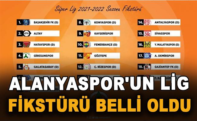 Alanyaspor'un lig fikstürü belli oldu