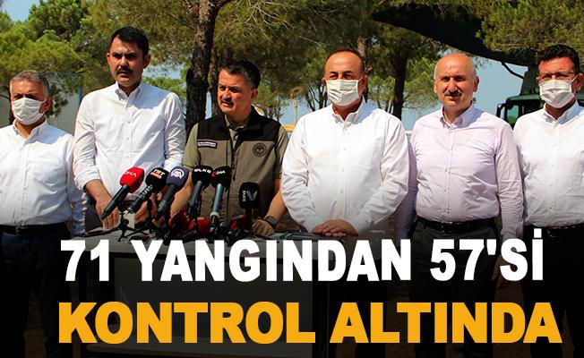 """Bakan Pakdemirli: """"71 yangından 57'si kontrol altında"""""""