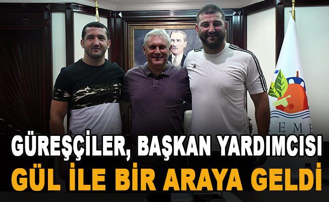 Kırkpınar yolcusu güreşçiler, başkan yardımcısı Gül ile bir araya geldi