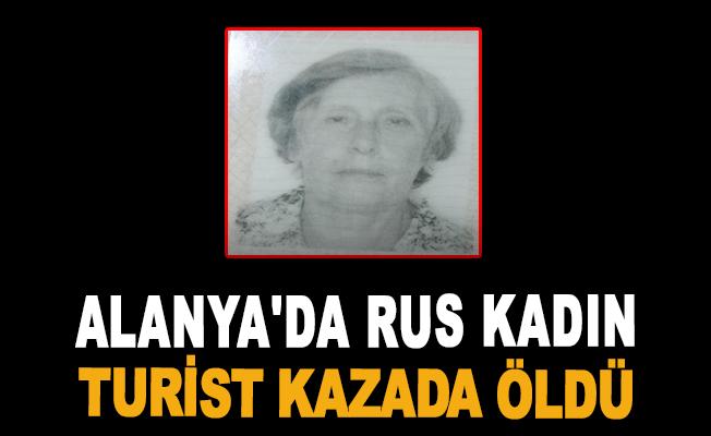 Alanya'da Rus kadın turist kazada öldü