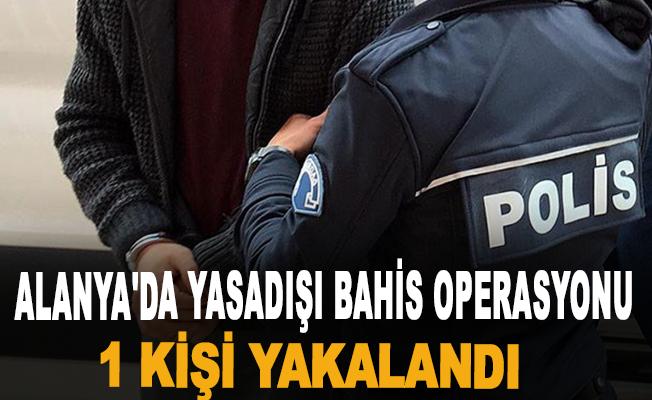 Alanya'da yasadışı bahis operasyonu: 1 kişi yakalandı
