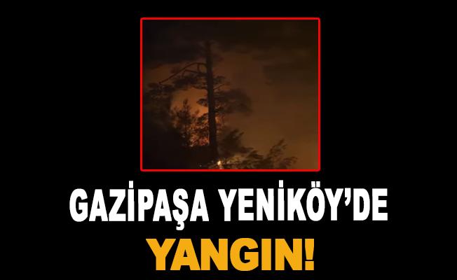 Gazipaşa Yeniköy'de yangın!