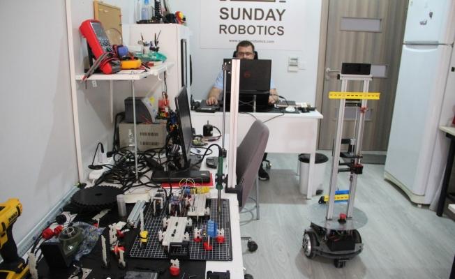 20 metrekarede teknoloji üretiyor