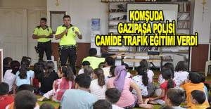 Gazipaşa'da öğrenciler trafik eğitimi aldı