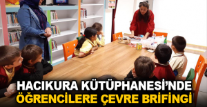 Hacıkura Kütüphanesi'nde öğrencilere çevre brifingi