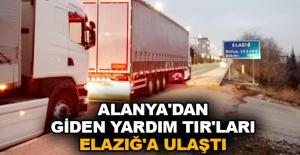 Alanya'dan giden yardım TIR'ları Elazığ'a ulaştı