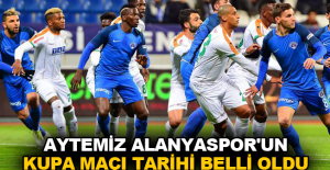 Aytemiz Alanyaspor'un kupa maçı tarihi belli oldu