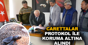 Carettalar protokol ile koruma altına alındı