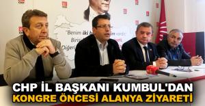 CHP İl Başkanı Kumbul'dan kongre öncesi Alanya ziyareti