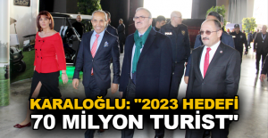"""Karaloğlu: """"2023 hedefi 70 milyon..."""