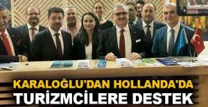 Karaloğlu'dan Hollanda'da turizmcilere destek