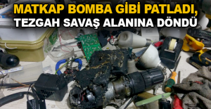 Matkap bomba gibi patladı, tezgah savaş alanına döndü