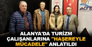 """Alanya'da turizm çalışanlarına """"Haşereyle Mücadele"""" anlatıldı"""