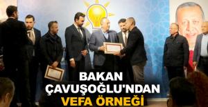 Bakan Çavuşoğlu'ndan vefa örneği