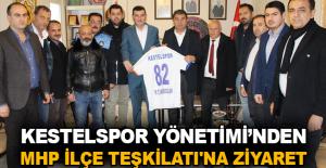 Kestelspor Yönetimi'nden MHP İlçe Teşkilatı'na ziyaret