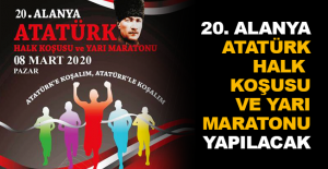 20. Alanya Atatürk Halk Koşusu ve Yarı Maratonu yapılacak