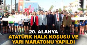20. Alanya Atatürk Halk Koşusu ve Yarı Maratonu yapıldı