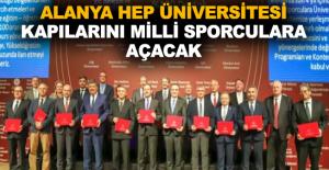 Alanya HEP Üniversitesi kapılarını milli sporculara açacak