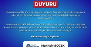 Antalya'da 65 yaş üstü ücretsiz ulaşım kartları geçici süreyle durduruldu
