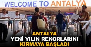 Antalya yeni yılın rekorlarını kırmaya başladı