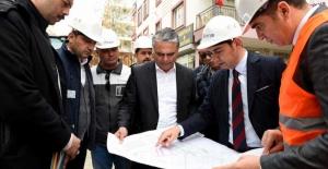 Başkan Uysal, doğalgaz altyapı çalışmalarını denetledi