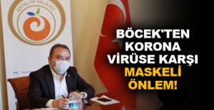 Böcek'ten korona virüse karşı maskeli önlem!