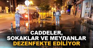 Caddeler, sokaklar ve meydanlar dezenfekte ediliyor