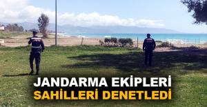 Jandarma ekipleri sahilleri denetledi