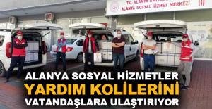 Alanya Sosyal Hizmetler, yardım kolilerini vatandaşlara ulaştırıyor
