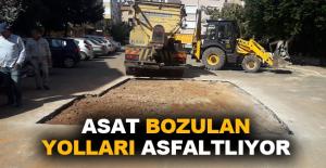 ASAT bozulan yolları asfaltlıyor