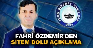 Fahri Özdemir'den sitem dolu açıklama