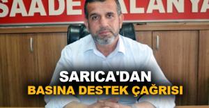 Sarıca'dan basına destek çağrısı