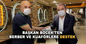 Başkan Böcek'ten berber ve kuaförlere destek