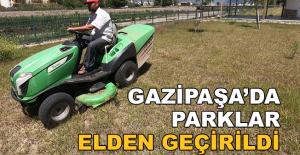 Gazipaşa'da parklar elden geçirildi