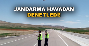 Jandarma trafiği yerden ve havadan denetledi