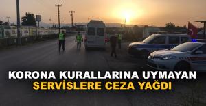Korona virüs kurallarını ihlal eden 7 servise ceza yağdı