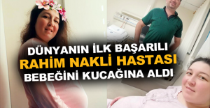 9 yıl önce kadavradan rahim nakledilen Derya Sert, anne oldu