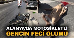 Alanya#039;da motosikletli gencin...
