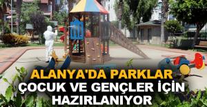 Alanya'da parklar çocuk ve gençler için hazırlanıyor