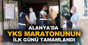 Alanya'da YKS maratonunun ilk günü tamamlandı