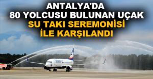 Antalya'da 80 yolcusu bulunan uçak...