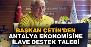 Antalya ekonomisine ilave destek talebi