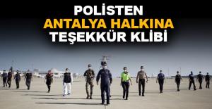 Antalya polisi, 'Bu başarı sana çok yakıştı Antalya' dedi